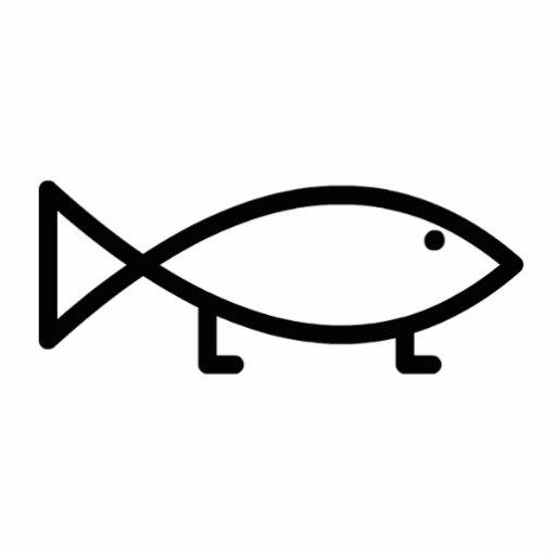 Evolving Jesus Fish - Single Cutout Photo Cut Outs
