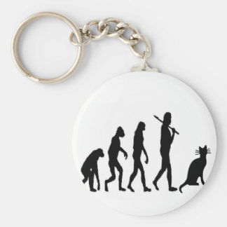 """Evoultion Cat """"We Believe""""-Funny Cat Lovers Keychain"""