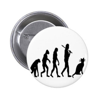 """Evoultion Cat """"We Believe""""-Funny Cat Lovers Pinback Button"""