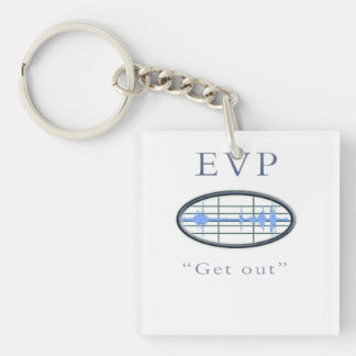 EVP ghost hunter Double-Sided Square Acrylic Keychain