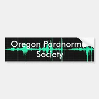 EvpWaveform, Oregon Paranormal Society Car Bumper Sticker