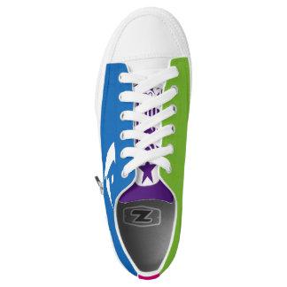EW-BLADE- Mashup Zipz Low Top Printed Shoes