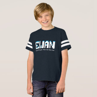 Ewan boys name and meaning pixels text T-Shirt