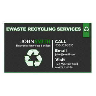 Ewaste que recicla diseño dejado/correcto de la tarjetas de visita