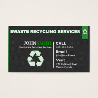 Ewaste Recycling Business Card - Left/Right Design