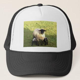 Ewe and lambs trucker hat