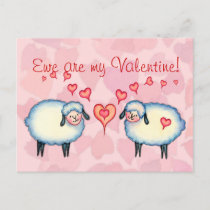 EWE are MY VALENTINE by SHARON SHARPE Holiday Postcard