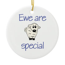 Ewe are special ceramic ornament