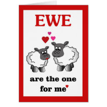 Ewe are the one for me card
