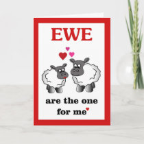 Ewe are the one for me holiday card