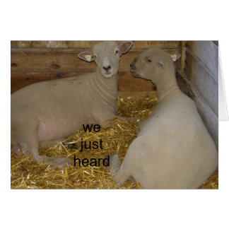 EWE ARE UNDER THE WEATHER CARD