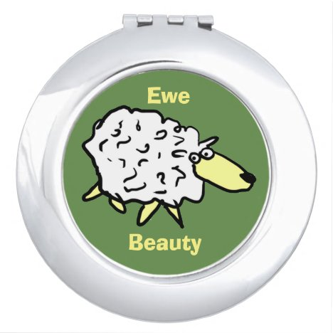 Ewe Beauty Sheep Cartoon Design Makeup Mirror