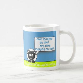 ewe looking at me coffee mug