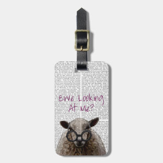 Ewe Looking at Me DeNiro Sheep 2 Tag For Luggage