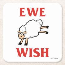 Ewe Wish Square Paper Coaster