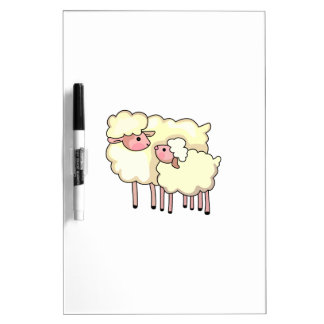 EWE WITH BABY LAMB Dry-Erase BOARDS