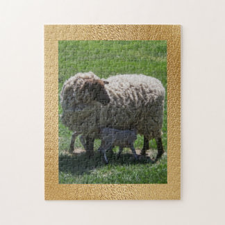 Ewe with Lamb Jigsaw Puzzle