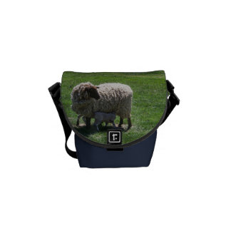 Ewe with Lamb Courier Bag