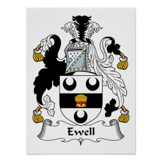 Ewell Family Crest Posters