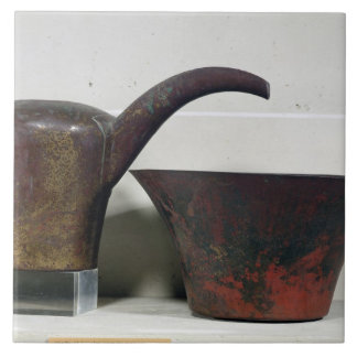 Ewer and basin (copper) ceramic tile