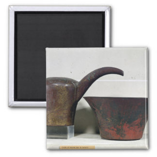 Ewer and basin (copper) magnet