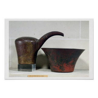 Ewer and basin (copper) poster