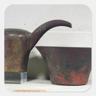 Ewer and basin (copper) square sticker