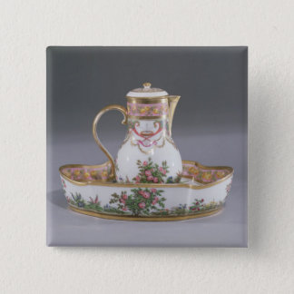 Ewer and basin, made in Paris Button