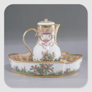 Ewer and basin, made in Paris Square Sticker