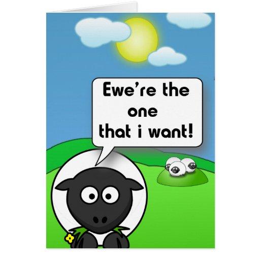 Ewe're the one card