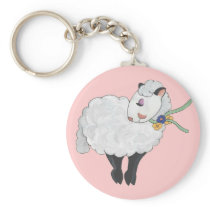 Ewe's not Fat, Ewe's Fluffy! Keychain