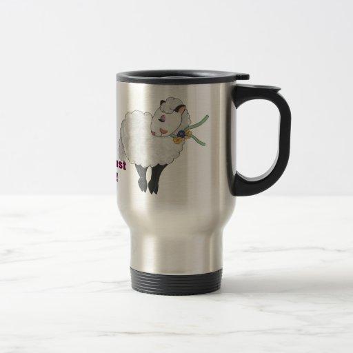 Ewe's not Fat, Ewe's Fluffy! 15 Oz Stainless Steel Travel Mug