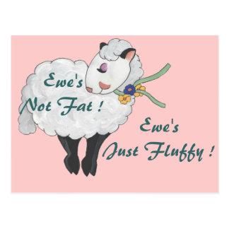 Ewe's not Fat, Ewe's Fluffy! Postcard