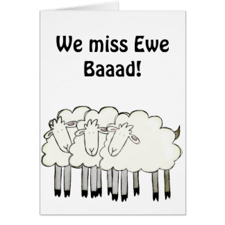Ewe's with a message! card
