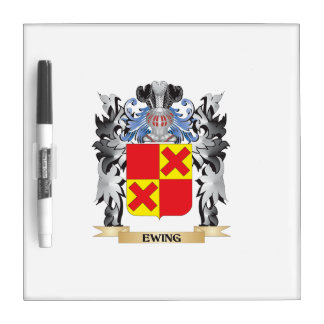 Ewing Coat of Arms - Family Crest Dry Erase Board