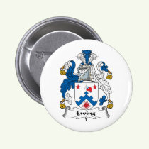 Ewing Family Crest Button