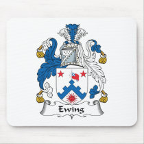 Ewing Family Crest Mousepad