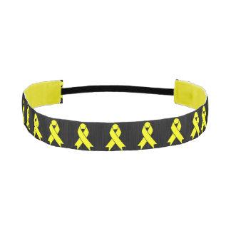 Ewing Sarcoma Awareness Yellow Ribbon Athletic Headband