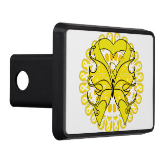 Ewing Sarcoma Butterfly Heart Ribbon Hitch Covers
