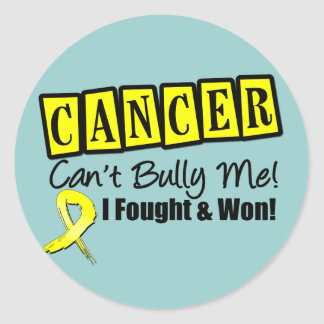 Ewing Sarcoma Cancer Can't Bully Me...I Won Classic Round Sticker