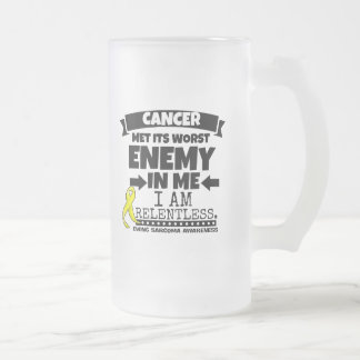 Ewing Sarcoma Cancer Met Its Worst Enemy in Me Frosted Glass Beer Mug