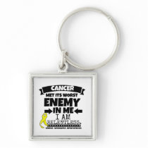 Ewing Sarcoma Cancer Met Its Worst Enemy in Me Keychain
