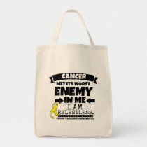 Ewing Sarcoma Cancer Met Its Worst Enemy in Me Tote Bag