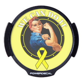 Ewing Sarcoma Cancer Rosie The Riveter LED Car Decal