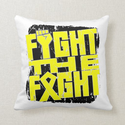Ewing Sarcoma Fight The Fight Throw Pillow