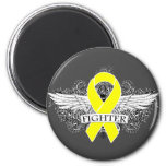 Ewing Sarcoma Fighter Wings Refrigerator Magnet