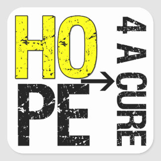 Ewing Sarcoma Hope For a Cure Square Stickers