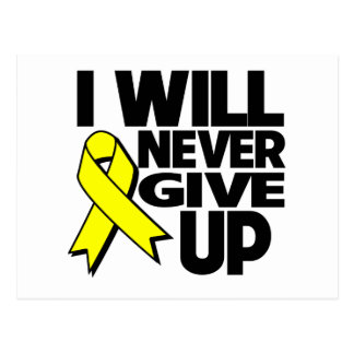 Ewing Sarcoma I Will Never Give Up Post Cards