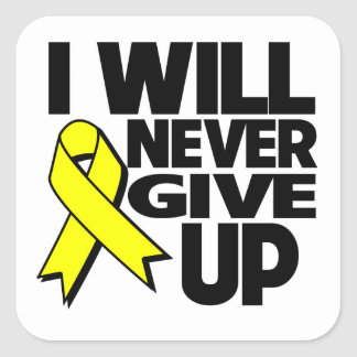 Ewing Sarcoma I Will Never Give Up Square Sticker