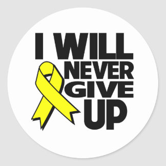 Ewing Sarcoma I Will Never Give Up Classic Round Sticker